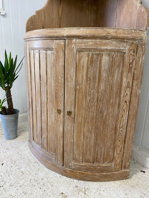 SOLD - Antique French Cupboard / Corner Cupboard - g122